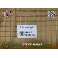 Quality HESLY MIL19 Defensive Barrier | 2.74m high with beige color geotextile cloth for sale
