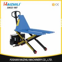 China Hot selling 1000kg high lift electric scissor lift pallet truck on sale