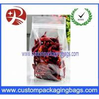 Quality Clear Plastic Food Packaging Bags Side Gussest With ZipLock Dried Chili for sale