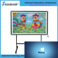 Quality 10-32points multitouch infrared water marker writable floor standing interactive electronic infrared whiteboard for sale