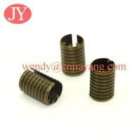 Quality Antique Brass Metal Crimp Ends Without Loop Fold Over Crimp Head Clips for sale