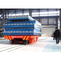 Quality 63t Conductor rail power rail transfer vehicle for steel plate handling for sale