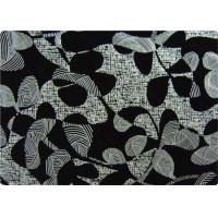 Quality Black Printed Flocked Fabric / Cloth For Home Textile Sofa Pillow for sale
