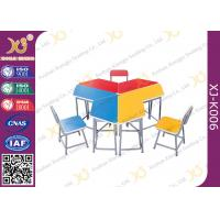 Quality 5 Years Warranty Metal Frame MDF Table Top Desk And Chair Set For Training Room for sale