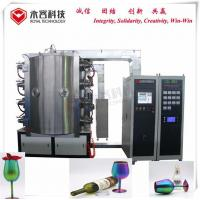 Quality Arc Cathodes PVD Glass Coating Machine For Color Wine Glass Crystal Cups for sale