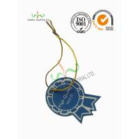 Quality Multi Colored Clothing Hang Tags With Metallic String Round Corner Shape for sale