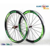 Quality 50mm Clincher Bicycle Aluminum Road Bike Wheels With Mrcarbon Logo for sale