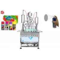 Quality Oil Based Spray Paint Filling Machine , Semi Automatic Aerosol Can Filling Equipment for sale