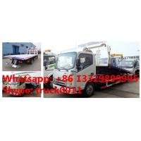 China famous JAC brand flatbed towing vehicle for sale, JAC brand 4*2 LHD car towing services platform wrecker vehicle