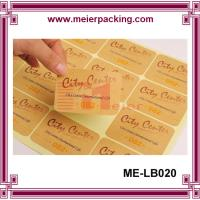 Quality Adhesive kraft paper label sticker for boutique products/None lamination brown paper sticker  ME-LB020 for sale