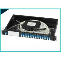 Quality 16 Channel Dual LC 1U 19 Rack Mount Box Fiber Optic CWDM Module Splitter for sale