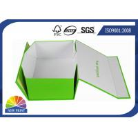 Quality Custom Rectangle Folding Paper Gift Box / Printed Paper Storage Boxes for Shoes or Garment for sale