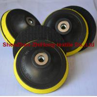 Customized self-adhesive hook and loop sanding pad for grinding