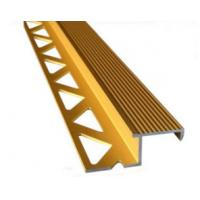 Buy Aluminum Tile Trim / Aluminum Extrusion Profile with Golden Anodized Color at wholesale prices