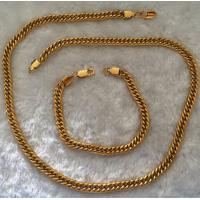 China Big Snake Bone Golden Stainless Steel Jewelry Chain With Handcuffs Clasp on sale