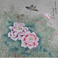 Quality lotus leaf painting art painting for sale