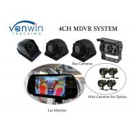 Quality Compact 4 Channel 3G Mobile DVR With Built - In GPS Mirror Recording In SD Card for sale