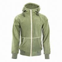 Quality Men's and Lady's Fleece Black/Army Green Lifestyle Hoody Jacket/Coat for sale