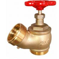 Quality Red Hand Wheel Single Headed Hydrant Valve , Brass Fire Fighting Landing Valve for sale