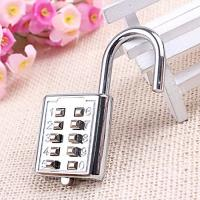 Quality Mini Push Button Code Resettable Combination Padlock 10 Pin Sports Locker for sale