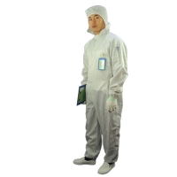 Quality 2.5mm Grid 98% 99% Polyester Antistatic ESD Coverall for sale