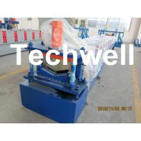Quality Manual / Automatical Decoiler Top Hat Cap / Ridge Flashing Roll Forming Machine for sale