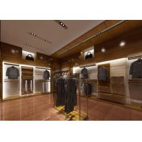 Quality Retail Shop Fixtures / Clothing Display Case Top Grade Grained Veneer Wooden Material for sale