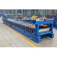 Quality PPGI Roofing Sheet Roll Forming Machine Step Tile Making Machine PLC control for sale