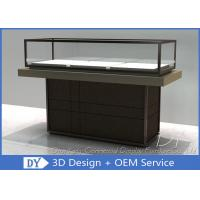 Buy Half Stain Steel Frame Glass Jewelry Display Case With Custom Logo at wholesale prices