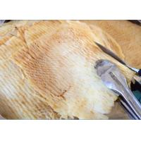 Quality Peanut Butter Grilled Half Dried Squid 50% - 58% Moisture Yellow Color for sale