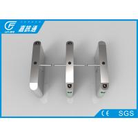 Quality Access Control System One Way Gate , Rfid Card Single Waist Height Turnstil for sale