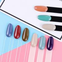 Quality Round Head Nail Care Tools Acrylic Fake Nail Customized Size For Display Nail Polish Chart for sale