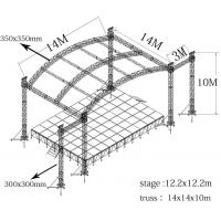 Quality Hang Speaker Aluminum Stage Truss Have Roof And With Wing 300mm X 300mm for sale