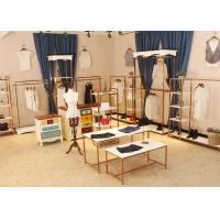 Buy Store Wall Racks / Retail Clothing Racks Rose Gold Mirror Stainless Steel Plus Wood at wholesale prices