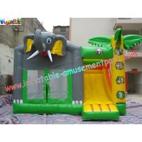 Quality Outdoor Kids Inflatable Bouncer Slide Commercial Grade 0.55mm With PVC Tarpaulin for sale