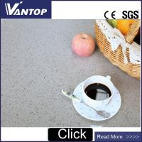 China Artificial Stone Bathroom Vanity Top Surface Grey Quartz Worktop on sale