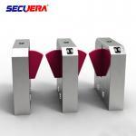 Quality Access control system fingerprint turnstile gate qr code reader flap turnstile barrier gate for sale