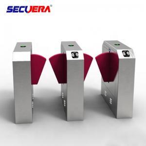 China Access control system fingerprint turnstile gate qr code reader flap turnstile barrier gate on sale