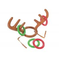 Quality No - Toxic Inflatable Kids Toys Reindeer Antler Ring Toss Hat Game For Christmas Holiday Party for sale