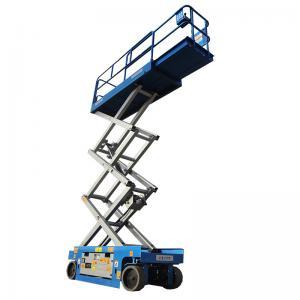 Quality Vertical 6m Electric Scissor Lift Aerial Construction Work 1.86*0.76*2.19m for sale