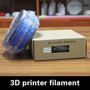 Quality 3D Photo Prints PLA Plastic Filament 3.0mm With Blue , 3D Printing PLA for sale