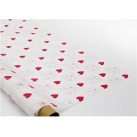 China Heart Shapes Custom Printed Wax Paper , Greaseproof Decorative Wax Paper Sheets on sale