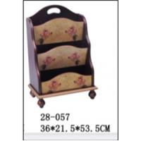 Quality new style Wooden magazine rack  magazine stand stable holder wood 128-057,36*21.5*53.5cm for sale