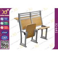 Quality Aluminium Frame Floor Mounded Classroom Desk And Chair Set For Students With Book Net for sale