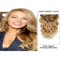Quality 16 Inch - 24 Inch Straight Pre Bonded Human Hair Extensions 120g / Bundle for sale