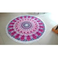 Quality 100% Cotton Material Mandala Round Towels for sale