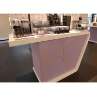 Quality Supermarket Fashion Makeup Display Cabinet Cosmetic Retail Counters Design for sale