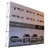 Buy Easy Installation Trade Show Backdrop Displays Folding Banner Stand Smooth Surface at wholesale prices