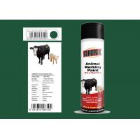 Quality Dark Green Color Marking Spray Paint , Animal Marking Paint  With REACH Certificate for sale