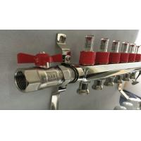 Quality Slvier Heating Radiant Floor Manifold For Balancing Underfloor Heating for sale